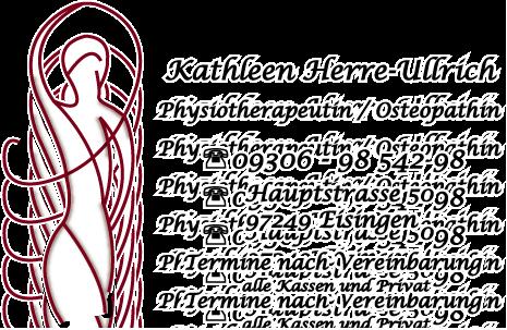 Physiotherapie/Osteopathie Praxis Kathleen Herre-Ullrich
